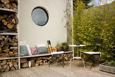 small space...outdoor...storage...seating...dining
