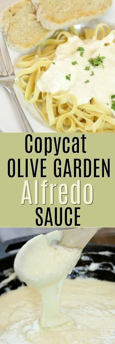 How to make Copycat Olive Garden Fettuccini Alfredo Sauce! Hands down the best Alfredo sauce and it is not only an easy family dinner right, but its rich, creamy flavor is just as good as eating it in the restaurant! Olive Garden Alfredo Sauce Recipe Easy, Copycat Olive Garden Alfredo, Make Alfredo Sauce, Pasta Alfredo, Fettuccine Sauce Recipe, Recipe Alfredo, Recipe Pasta, Homemade Alfredo, Homemade Pasta