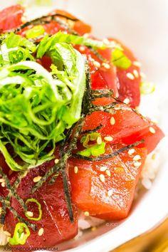 Tekka Don (Tuna Bowl) with links to other Don recipes| Easy Japanese Recipes at JustOneCookbook.com