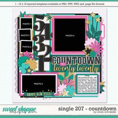 Cindy's Layered Templates - Single Countdown by Cindy Schneider Page Layout, Layouts, Photo Drop, Scrapbook Templates, Layout Template, Digital Scrapbooking, Create Your Own, Sketches, Memories