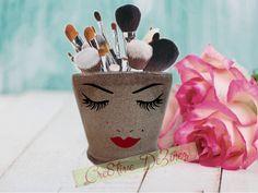 Beautiful Glitter Makeup Jar, Beauty, Brush Holder, Makeup Brush Holder, Bathroom Decor, Glitter Brush Holder, I Love Makeup Jar, Vanity Jar