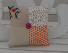 Patchwork Doily Pincushion 9 by mooseandbird on Etsy, $15.00