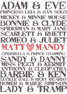 Save the dates we can have customised with our favourite couples and print ourselves