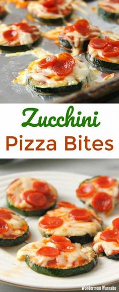 pizzas keto These zucchini pizza bites are so yummy and incredibly easy to make! These zucchini pizza bites are so yummy and incredibly easy to make! Way healthier than pizza rolls too! Lowcarb Pizza, Healthy Pizza, Healthy Snacks, Keto Snacks, Healthy Kids, Low Carb Recipes, Real Food Recipes, Cooking Recipes, Yummy Food