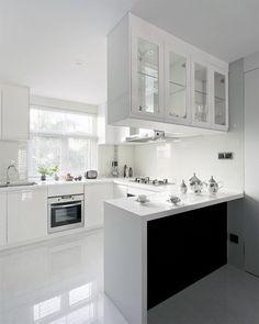 white small open kitchen