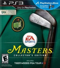 Tiger Woods PGA TOUR 13 The Masters Collectors Edition Playstation 3 >>> For more information, visit image link. Augusta National Golf Club, Tiger Woods, Masters Tournament, Sports Games For Kids, Video Game Collection, Latest Video Games, Golfer, Album Cover, Ea Sports