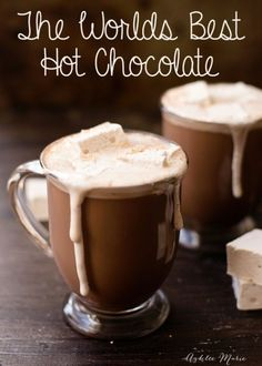 This recipe is the worlds best hot chocolate, I enjoy a cup of this every mornin. - Best Co. This recipe is the worlds best hot chocolate, I enjoy a cup of this every mornin. Homemade Hot Chocolate, Hot Chocolate Bars, Christmas Hot Chocolate, Hot Chocolate With Cocoa Powder, Hot Chocolate Recipe Easy, Hot Cocoa Recipe Stovetop, Healthy Hot Chocolate, Crockpot Hot Chocolate, Mexican Hot Chocolate