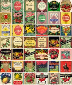 Free vintage labels. Download and print!