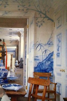 Great!  Painted walls, painted over onto the trim. ...need artist name!