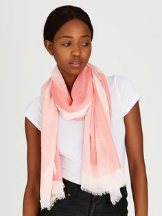 Check Scarf Mid Pink