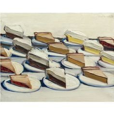 """My all time favorite Wayne Thiebaud painting.  It's called """"Pies."""" You can find more of his work on artnet.com."""