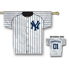 New York Yankees MLB Jersey Banner 34x30 2-sided