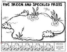 (sample page) 5 Green Speckled Frogs Subtraction Math Story {Decomposing 5}.