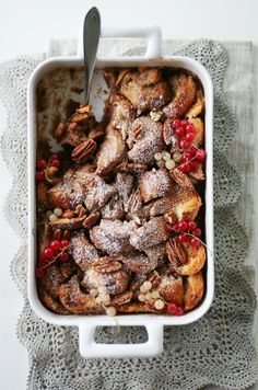 holiday bread pudding.