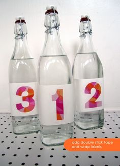 such a good idea for table numbers or decorations with initials, or a fun decoration for a party!