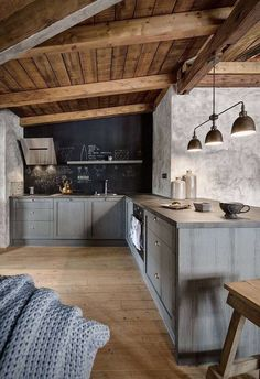 Chalet in the Mountains by Miramari Design Prague Cabin Interior Design, Chalet Interior, Chalet Design, Luxury Homes Interior, Chalet Style, Design Bedroom, Interior Ideas, House Design, Rustic Country Kitchens