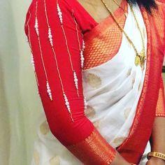 Kids Blouse Designs, Simple Blouse Designs, Bridal Blouse Designs, Simple Hand Embroidery Designs, Mirror Work Blouse Design, Pattu Saree Blouse Designs, Sleeves Designs For Dresses, Maggam Works, Videos