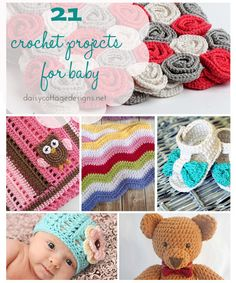 21 Crochet Patterns for Baby - Link to all patterns, many are FREE!