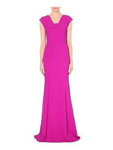 ROLAND MOURET Wool gown