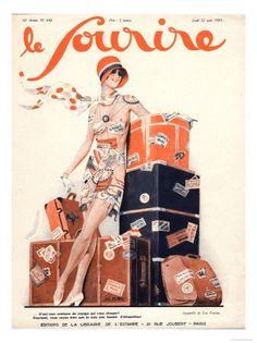 Le Sourire, Luggage Holiday Erotica Magazine, France, 1929