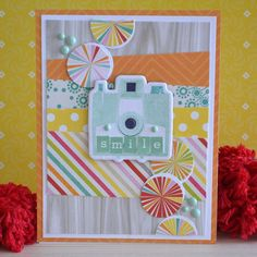 Echo Park Summer Bliss camera card by Teri Anderson.