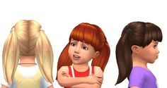 Lana CC Finds – Toddler hair - All About Hairstyles Sims 4 Toddler, Toddler Hair, Toddler Girls, Toddler Outfits, Girl Outfits, Sims 4 Pets, The Sims 4 Cabelos, Pelo Sims, The Sims 4 Packs