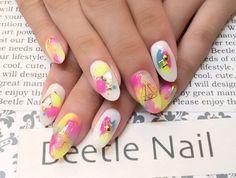 Nail Art - Beetle Nail : 八幡|ネオンネイル