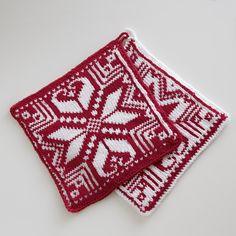 Grytekluter - Viking of Norway Crochet Potholders, Knit Crochet, Knitting Charts, Knitting Patterns, Stocking Pattern, Fair Isle Knitting, Double Knitting, Popular Pins, Knitting Projects