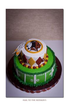 Hail to the Redskins Grooms cake Sports Theme Birthday, Football Birthday, Baby Birthday, Birthday Cakes, Birthday Ideas, Birthday Parties, Redskins Cake, Redskins Football, Redskins Logo
