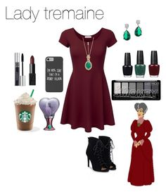 """lady tremaine"" by crystalgems125 ❤ liked on Polyvore featuring OPI, CZ by Kenneth Jay Lane, Christian Dior, NARS Cosmetics, Disney and JustFab"