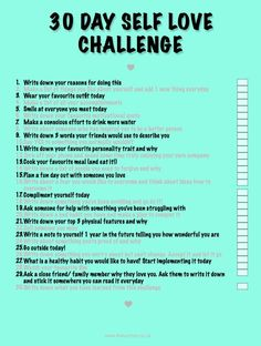 Self Love Challenge  http://www.thelucyfox.co.uk/2016/08/30-day-self-love-challenge.html