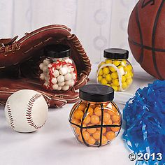 Whether you need sports party favors for a sports party or sports party decorations for the big game, Oriental Trading's sports party supplies and licensed table will score big points. Softball Party Decorations, Sports Party Favors, Basketball Party, Basketball Birthday, Sports Birthday, Baseball Treats, Softball Mom, Softball Stuff, Sweet 16 Parties