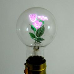 Aerolux Flowerlite light bulbs by Dan Flavin. Found on Colossal