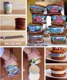 No spoon? No problem! Do it yourself ice cream sandwich, Ben & Jerry's style.