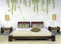 Items similar to Willow Tree Wall Decal Tree Branch Weeping Birds Removable Vinyl Decals Large Wall Art Nursery Home Decor Mural Stickers Bedroom Living room on Etsy Bird Wall Decals, Removable Wall Decals, Vinyl Wall Decals, Home Decor Wall Art, Nursery Wall Art, Bedroom Wall, Bedroom Ideas, Dark Green Bathrooms, Willow Tree Figurines