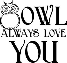 Owl Always Love You wall saying vinyl lettering art decal quote sticker home decal by Wall Sayings Vinyl Lettering, http://www.amazon.com