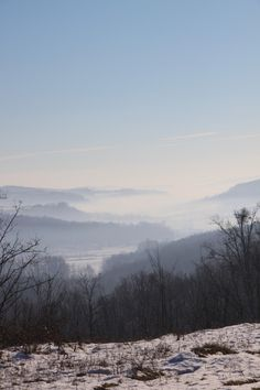 Fog on the Hills - Public Domain Photos, Free Images for Commercial Use Public Domain, Free Images, Commercial, Mountains, Winter, Photos, Travel, Animals, Outdoor