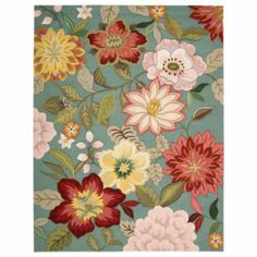 A hooked rug in vibrant colors is great for a vintage cottage look.