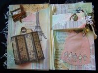 Shabby chic altered book
