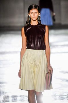 love this leather top from Prada ss12