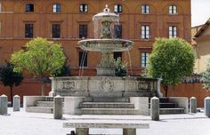 Fontana di Pio IX in Piazza Mastai, Rome.