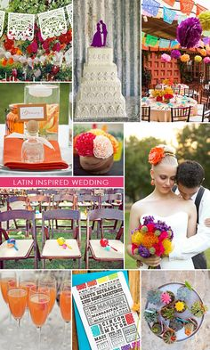 Latin Inspired Wedding. Love the color scheme.