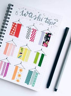 Displaying your washi tape collection in your bullet journal not only looks pretty, it also helps you decide which ones you want to use on which pages. Here are some creative ways to create your own bullet journal washi tape collection pages. Bullet Journal Cover Page, Bullet Journal Notebook, Bullet Journal Themes, Bullet Journal Inspo, Bullet Journal Layout, Bullet Journal Materials, Bullet Journals, Bullet Journal Washi Tape, Washi Tape Crafts