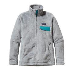 Patagonia Women\'s Full-Zip Re-Tool Fleece Jacket - Tailored Grey - Nickel X-Dye w/Tobago Blue TNXB