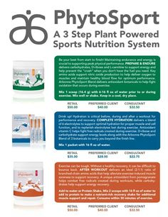 Phytosport. A 3 Step Plant Powered Sports Nutrition System. http://luzmariaheredia.arbonne.com/