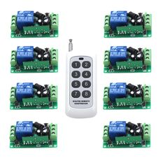 8CH/8Buttons/Key RF Wireless Remote Control/Radio Controller/Transmitter Controller for 1CH 8PCS Receiver Switch 315/433MHZ