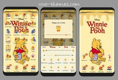 Winnie The Pooh Theme For Vivo Android Phones Winnie The Pooh Themes, Lisa Frank Stickers, Boarders And Frames, Reading Themes, Phone Themes, Android Theme, Settings App, My Themes, New Theme