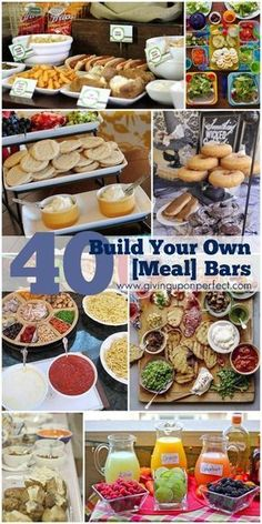Food Stations / Party Bar ideas for get togethers, entertaining, events, holidays. Planning a Superbowl, New Year's Eve or of July party? Here are 40 Ideas for Build Your Own {Food} Bars - fun and easy! Cooking For A Crowd, Food For A Crowd, 4. Juli Party, Party Party, Party Food Bars, Food Stations, Party Stations, Think Food, Feeding A Crowd