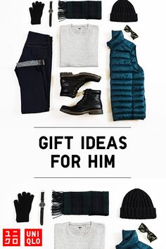 Get inspired with gift ideas for him from Uniqlo. Choose from stylish outerwear, ultra soft cashmere and Heattech accessories that will keep him extra warm all season long. Discover fashionable, functional and innovative gifts at uniqlo.com.