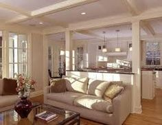kitchen islands with support pillar - Google Search